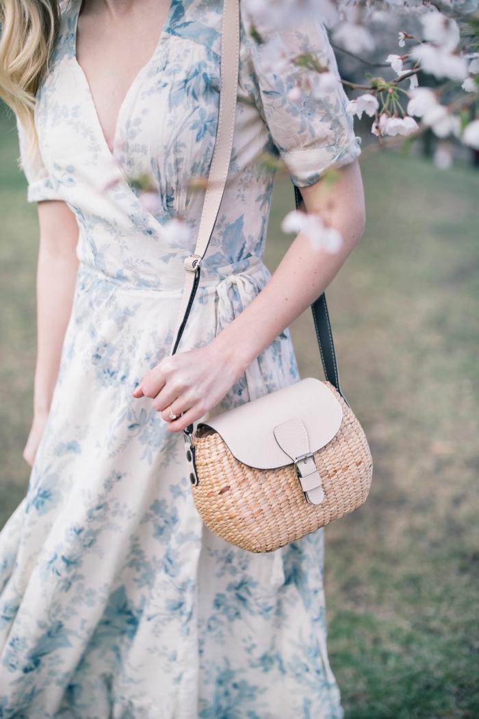 robe estivale longue aux fleurs