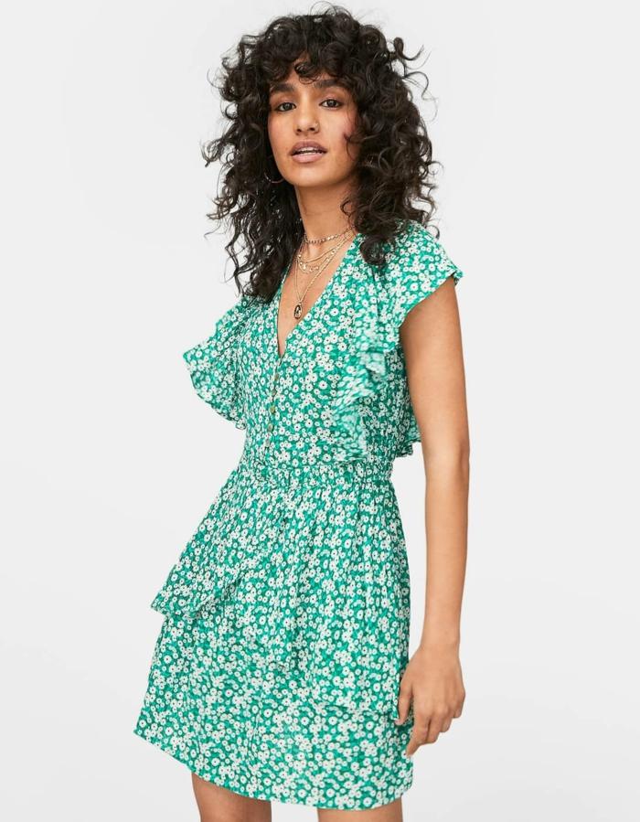 robe estivale tendance en vert