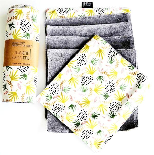 serviettes de cuisine et emballage essuie-tout