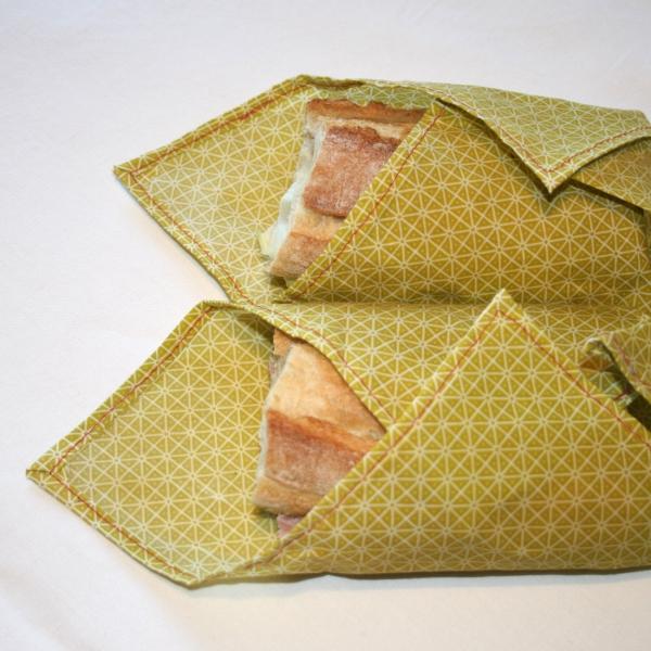 serviettes de cuisine et emballage pour les sandwichs