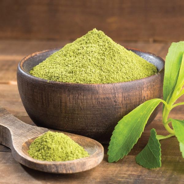 stévia sucre poudre verte