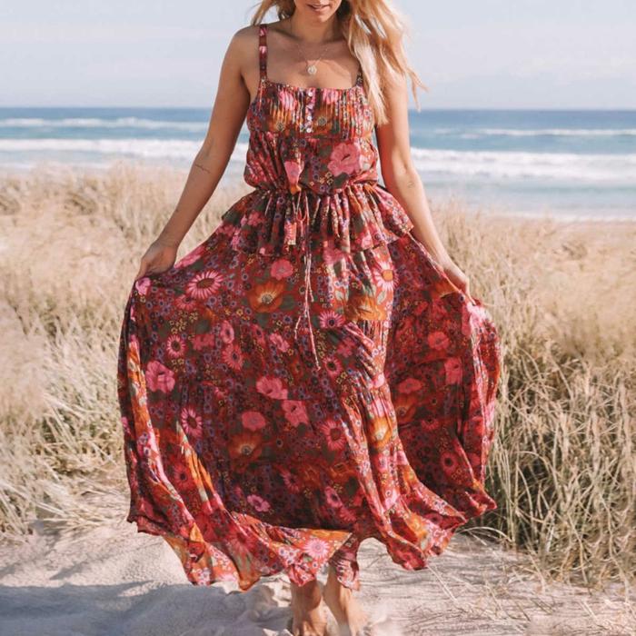 style boho robe estivale florale