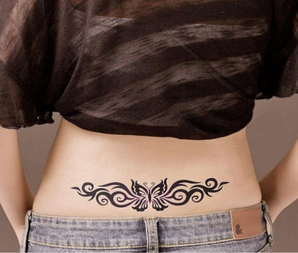 tatouage éphémère au henné reins femme