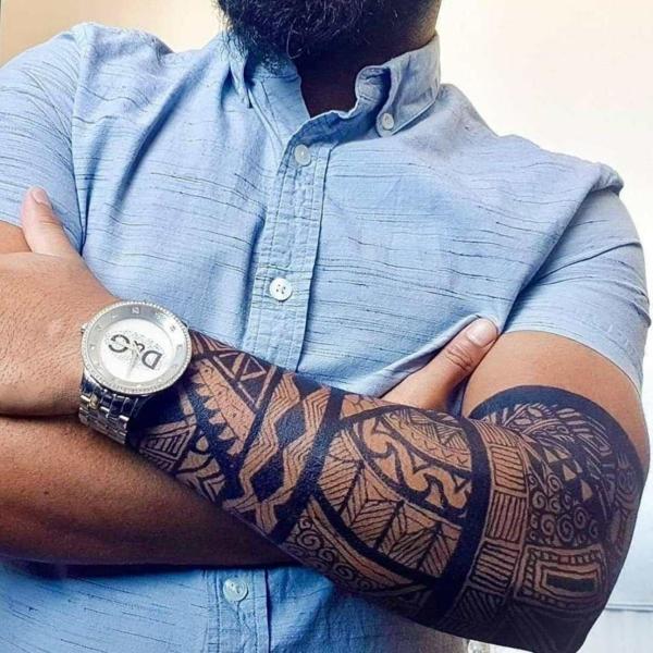 tatouage éphémère au jagua bras homme