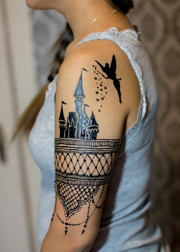 tatouage éphémère henné femme bras