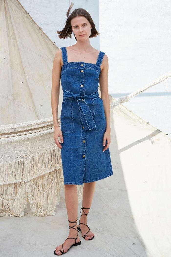 tendance robe estivale en jean