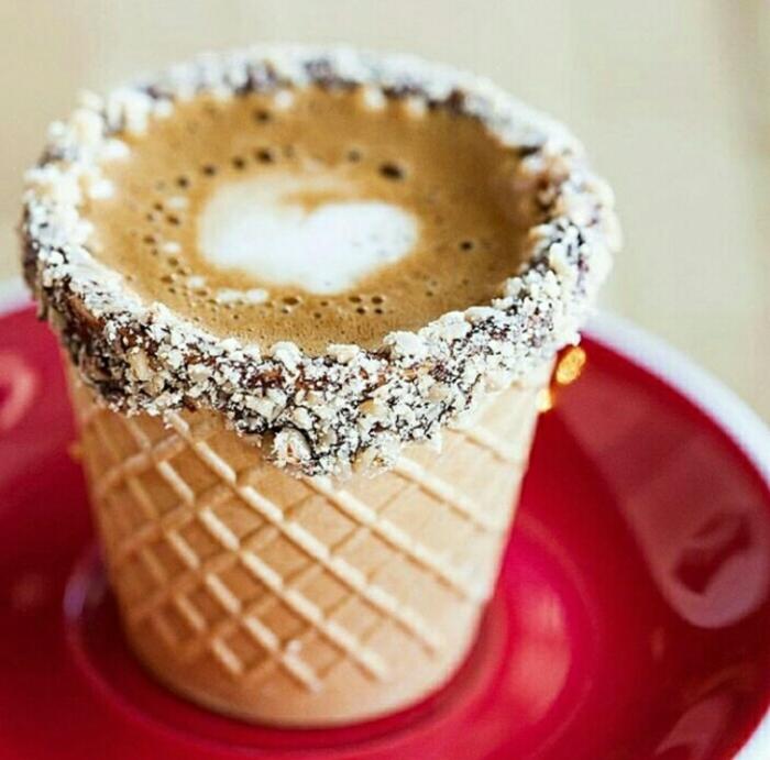 tendance vaisselle comestible tasse à café