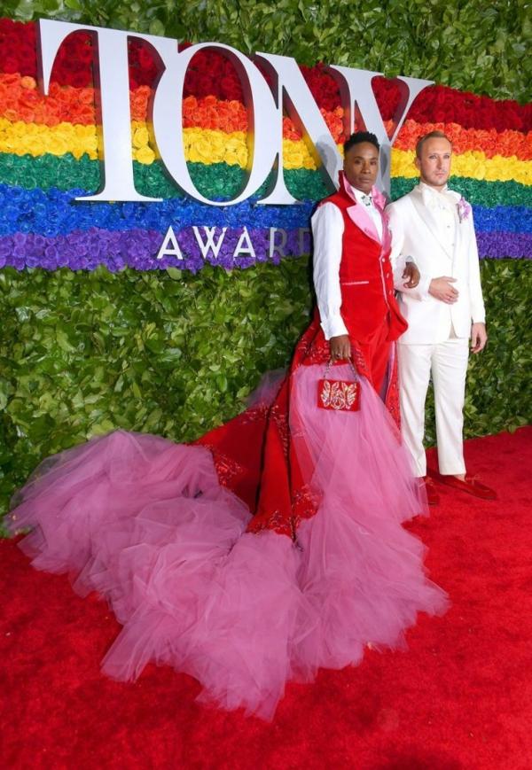 tony awards 2019 Billy Porter habillé de Celestino Couture et Adam Smith