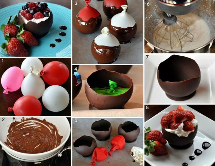 vaisselle comestible chocolat