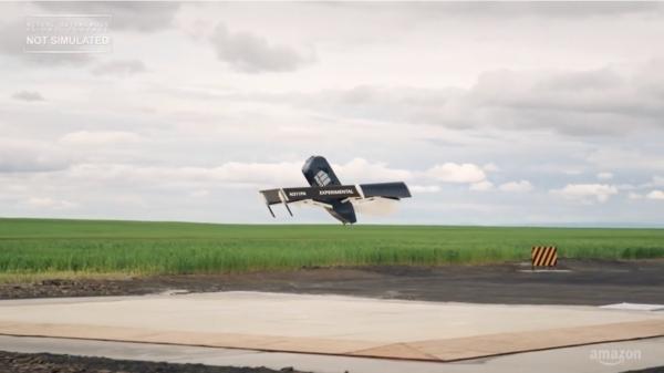 vol d'essai drones de livraison Amazon