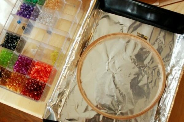 Attrape-soleil à fabriquer cerceau à broder