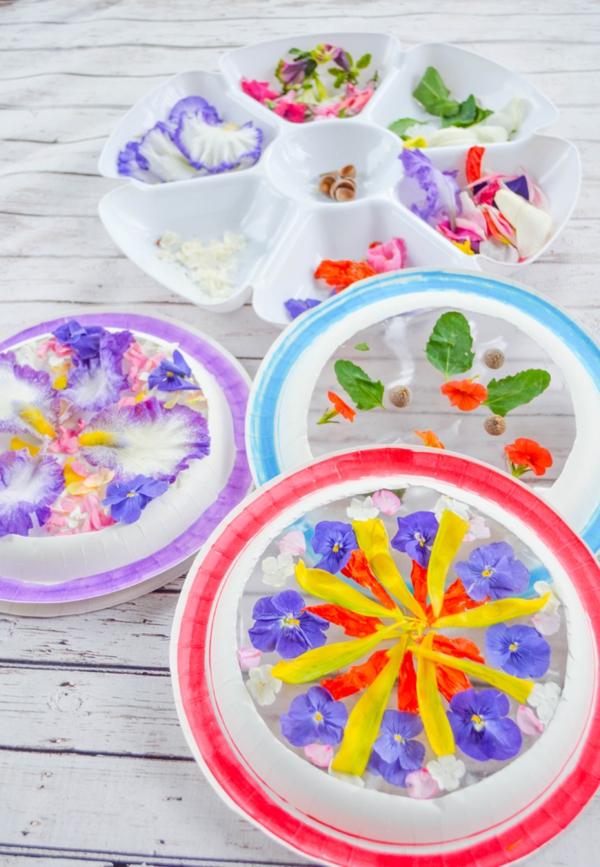 Attrape-soleil à fabriquer en utilisant des fleurs