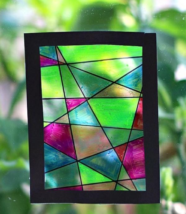 Attrape-soleil à fabriquer peinture sur verre