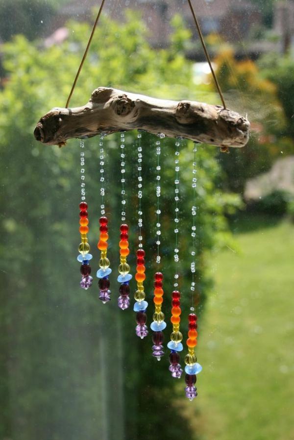 Attrape-soleil à fabriquer perles en plastique fil à coudre branche