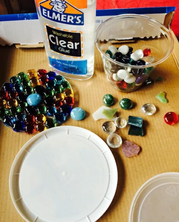 Attrape-soleil à fabriquer pierres décoratives en verre