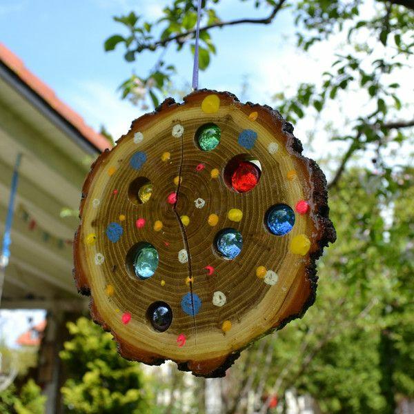 Attrape-soleil à fabriquer pierres en verre bois