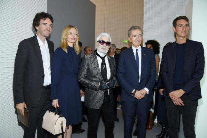 Bernard Arnault Karl Lagerfeld