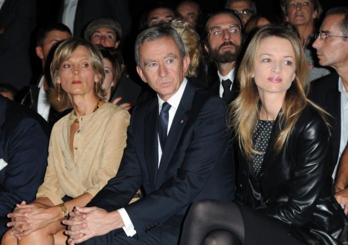 Bernard Arnault avec sa femme
