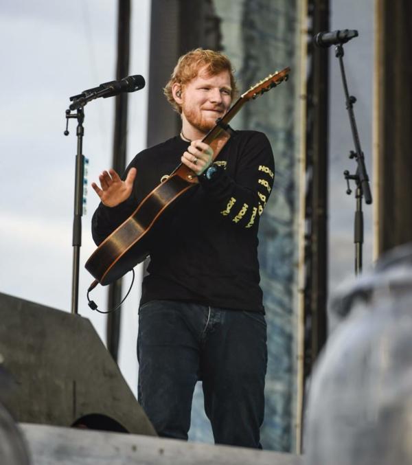Ed Sheeran concert à Helsinki Finlande, le 23 juillet 2019