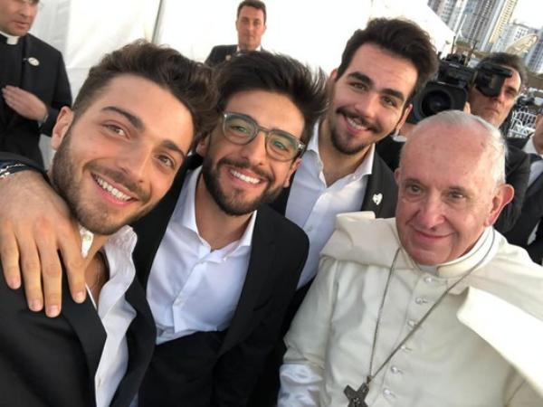 Il Volo avec le pape