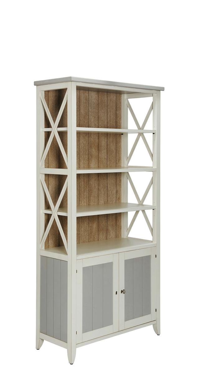 St Malo Bibliotheque Blanche Crozatier meuble de rangement salon