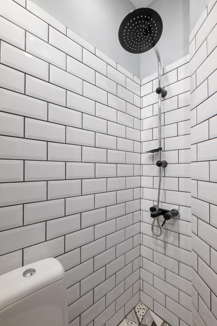 aménagement petit appartement le coin-douche