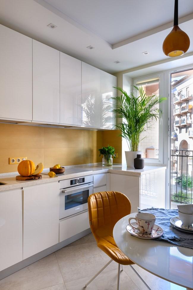 aménager appartement 45m2 cuisine en blanc