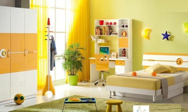 aménager appartement 45m2 en jaune citron