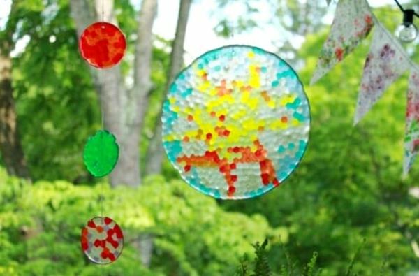 attrape-soleil diy perles décoratives déco extérieure