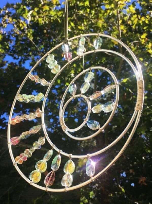 attrape-soleil diy pierres en verre métal fil métallique