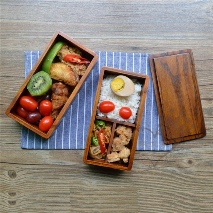boîte bento pratique en bois