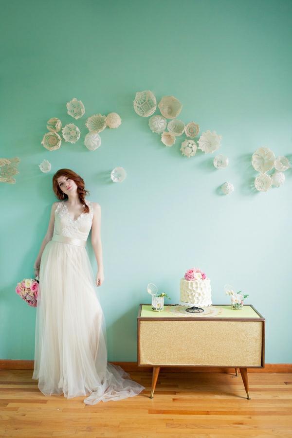 bricolage avec un napperon déco murale de mariage diy