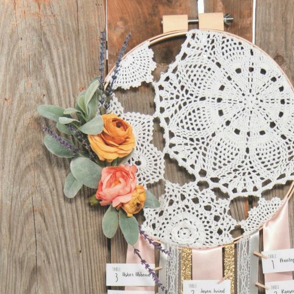 bricolage avec un napperon décoration de style boho diy