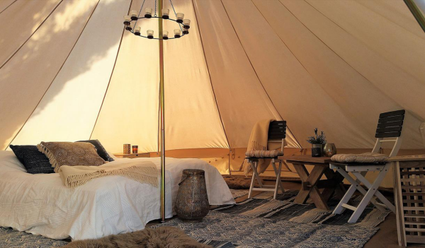 camping luxe des meubles pliables
