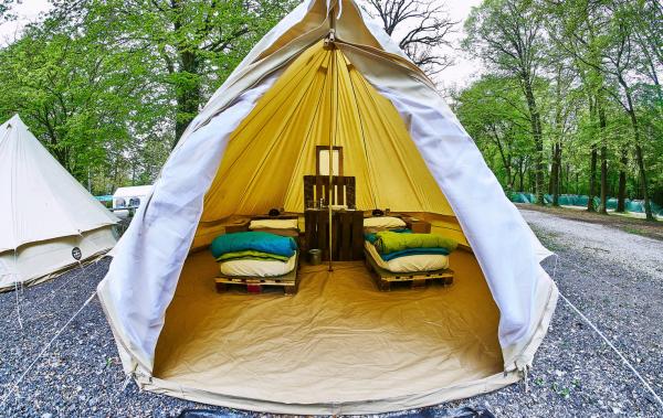 camping luxe meubles en palettes