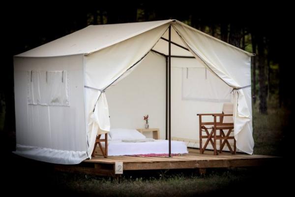 camping luxe plus qu'une tente