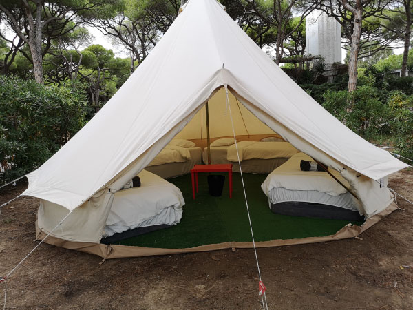 camping luxe pour une famille
