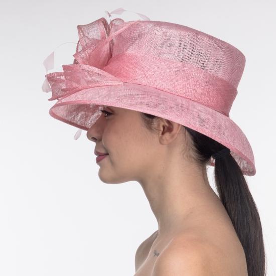 chapeau femme couleur rose
