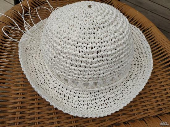 chapeau femme tissé en sisal