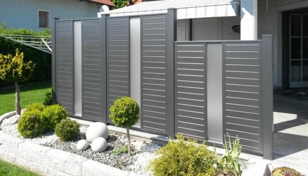 clôture en aluminium brise-vue jardin