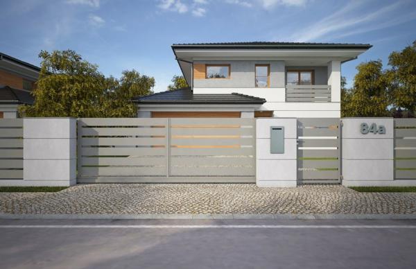 clôture en aluminium couleur beige