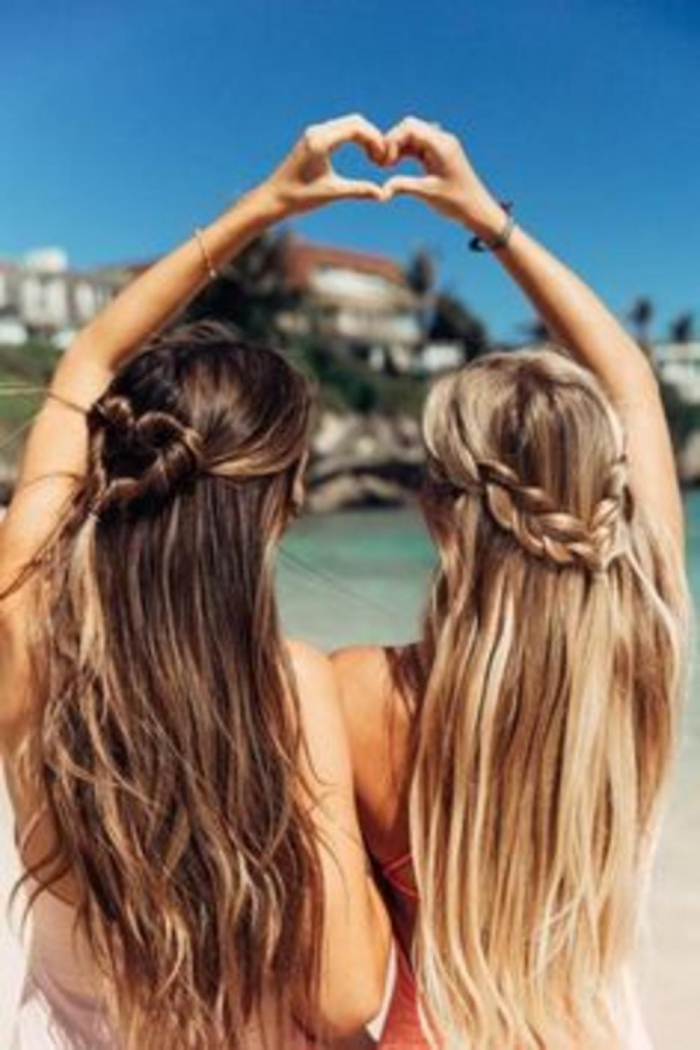 coiffure plage cheveux libres