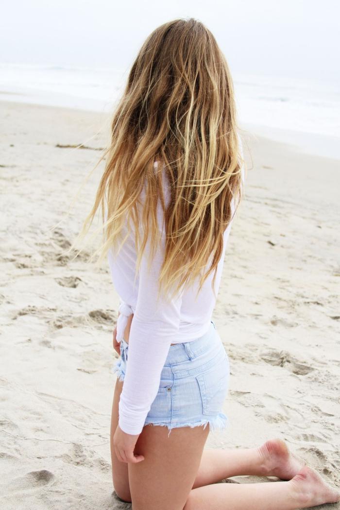 coiffure plage en pleine détente