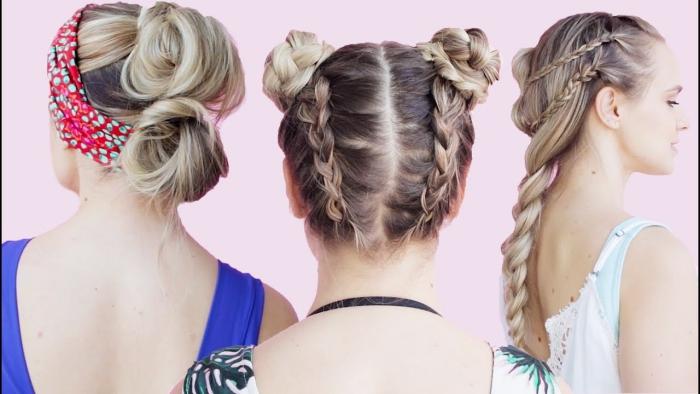 coiffure plage simple et compliqué