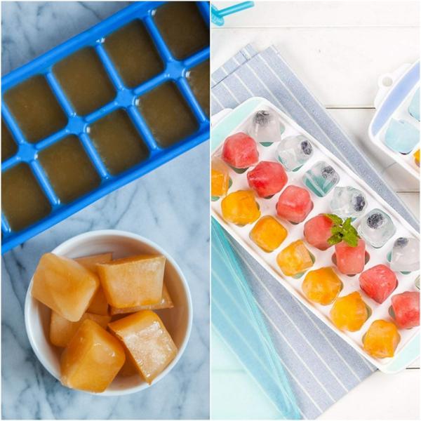 conserver du jus de fruits dans un moule à glace