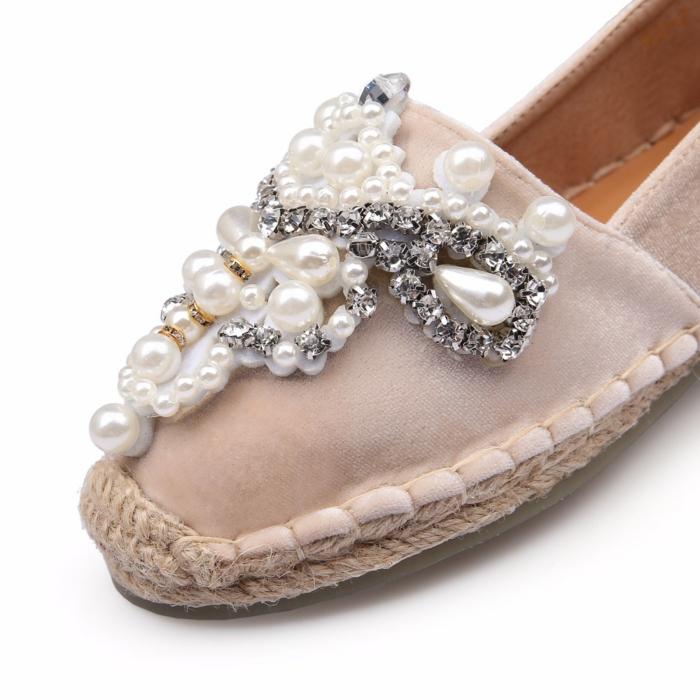 déco avec des perles espadrilles personnalisées
