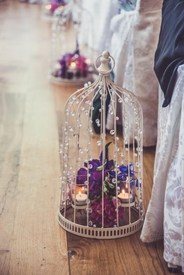 déco cage oiseau avec des bougies mariage