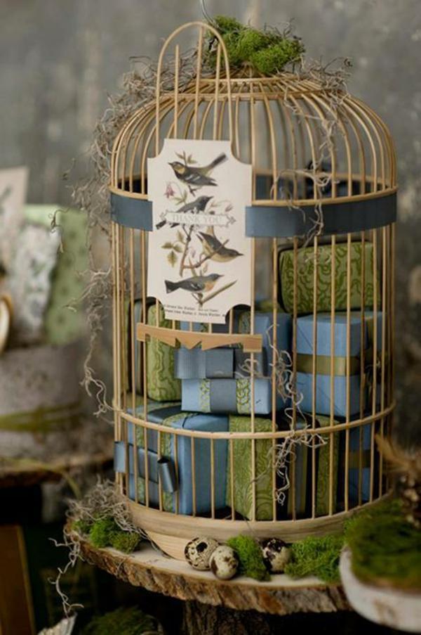 déco cage oiseau boîte à cadeaux