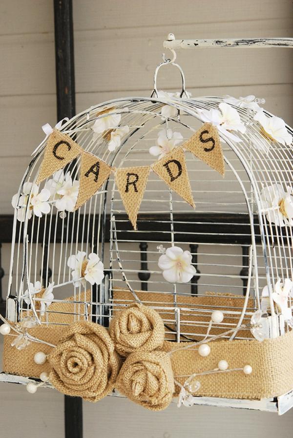 déco cage oiseau boîte à cartes mariage