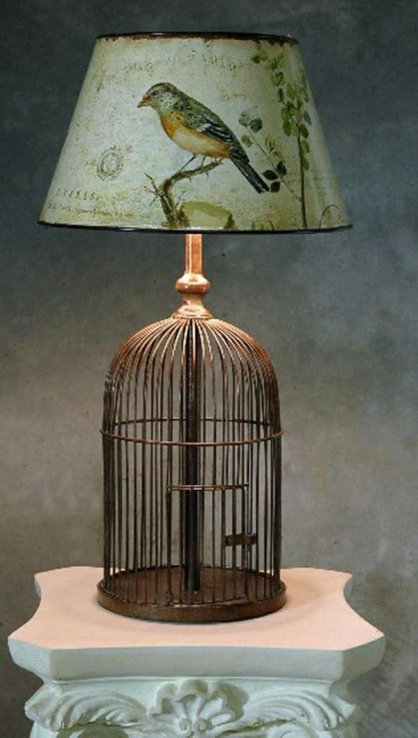 déco cage oiseau chambre lampe de chevet